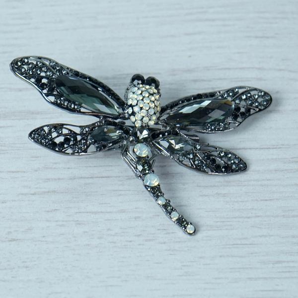 Black Dragonfly Brooch