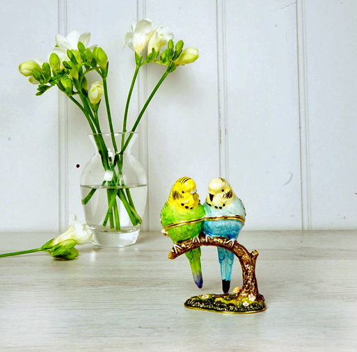 Budgerigar Trinket Box