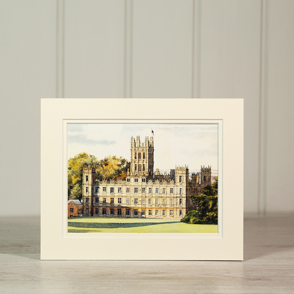 Castle Print: South Lawns Watercolour by Sue Finniss - Small