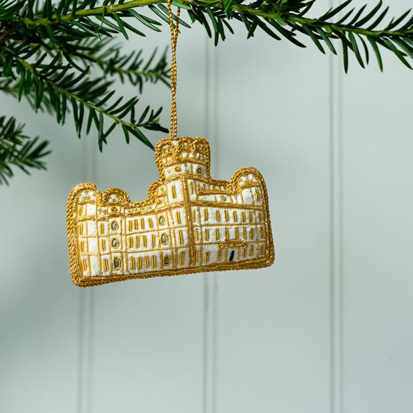 Gold Thread and Felt Christmas Decoration