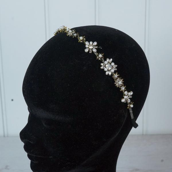 Dark Gold Jewelled Tiara/hairband