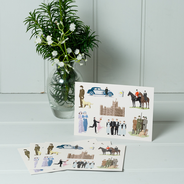 Downton style Postcard Pack of 4
