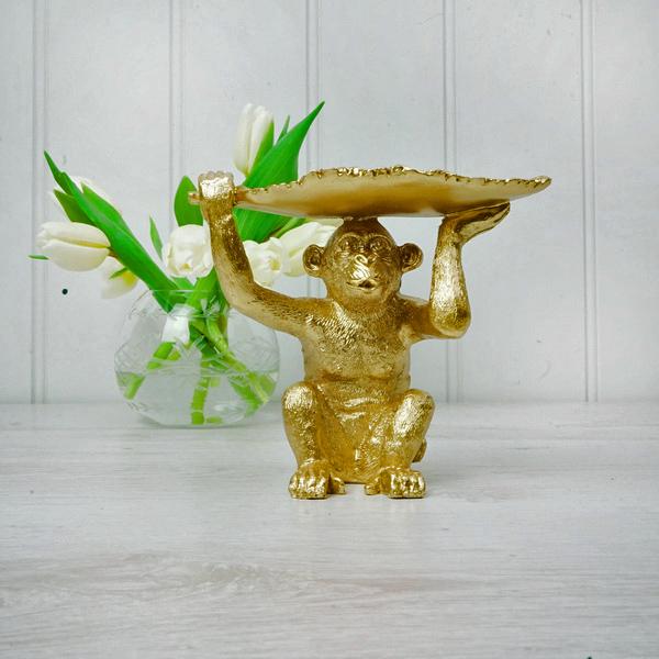 Gold Monkey Trinket Dish