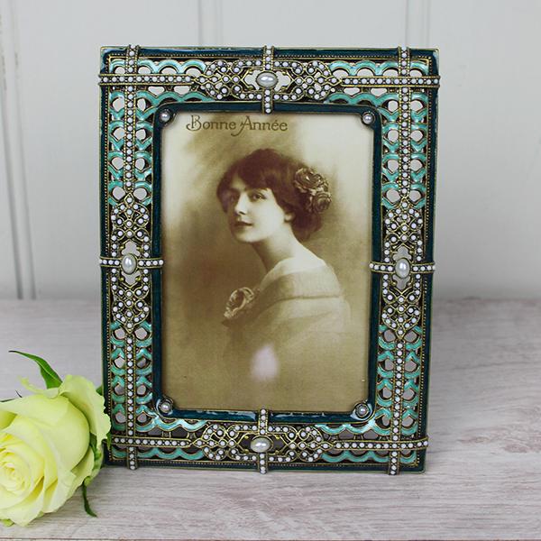 Green Jewelled Frame