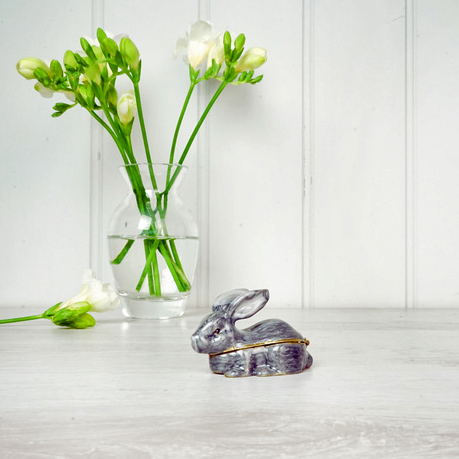 Grey Rabbit Trinket Box