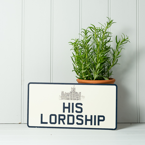 Vintage Style His Lordship Number Plate