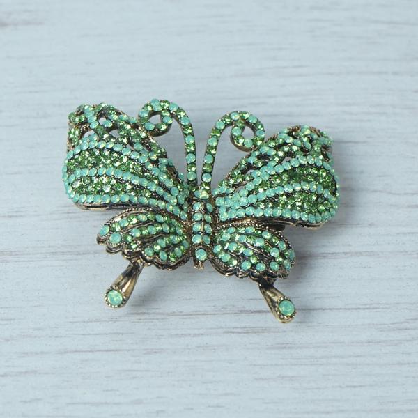 Jade Green Butterfly Brooch