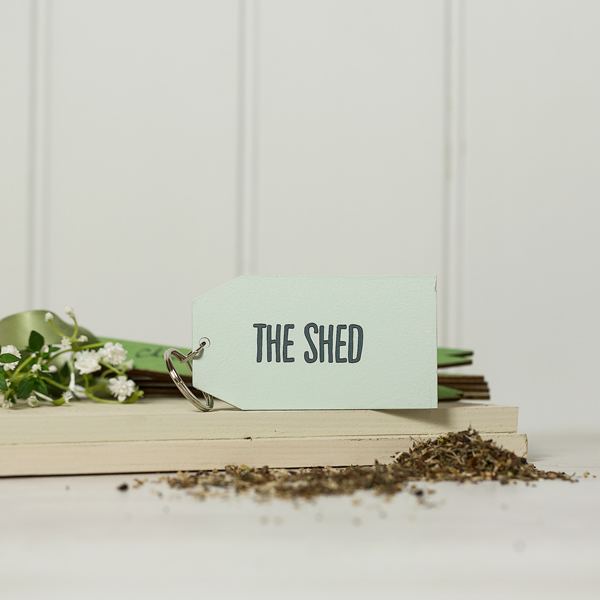 Shed Keyring - Plain Design