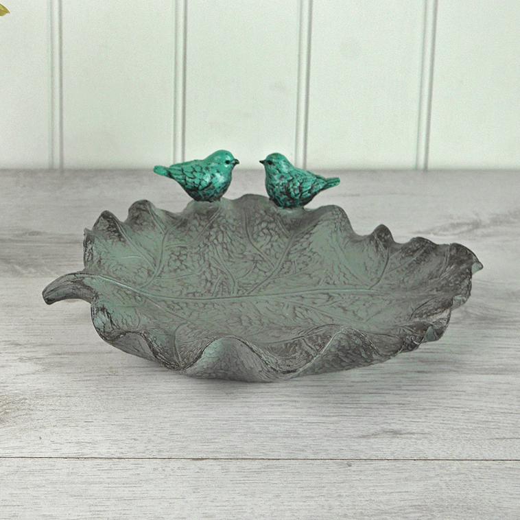 """"""" Curled"""" Leaf Bird Feeder"""