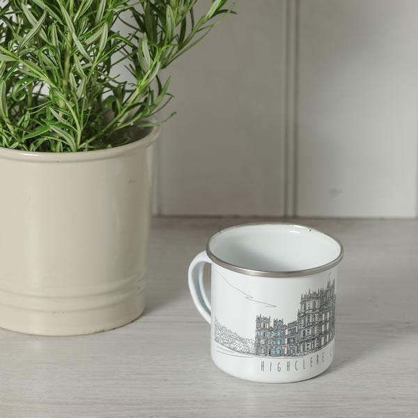 Monochrome Style Enamel Mug