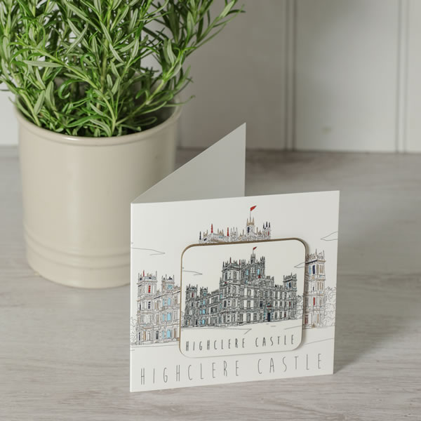 Monochrome Style Greetings Card with Coaster
