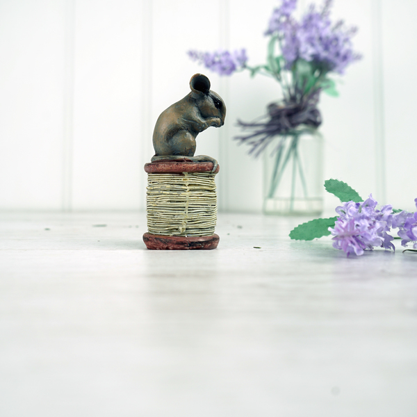 Mouse on a cotton Reel