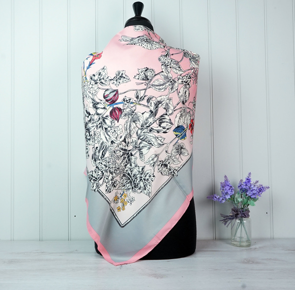 Light Pink Silk Mix Scarf - Large