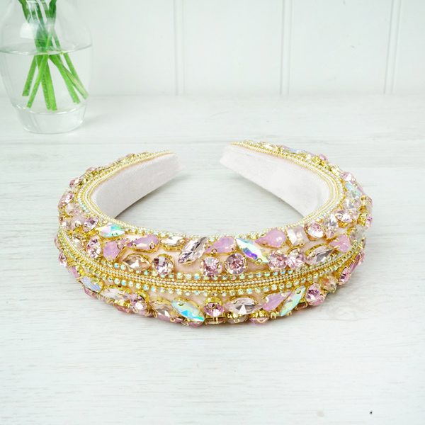 Pink Crystal Hairband