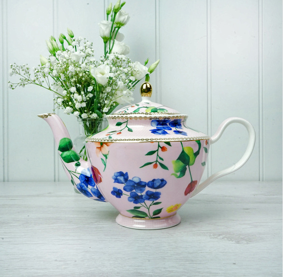 Pink Floral Teapot - Large