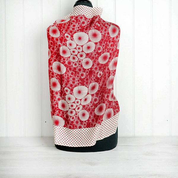 Red & Cream Cashmere Wrap