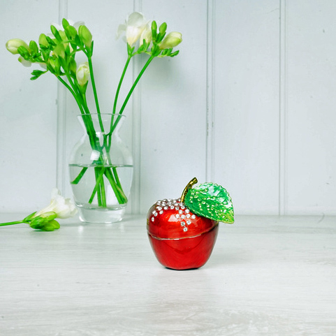 Red Apple Trinket Box
