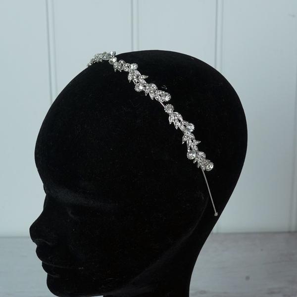 "Silver ""Swirls"" Tiara/hairband"