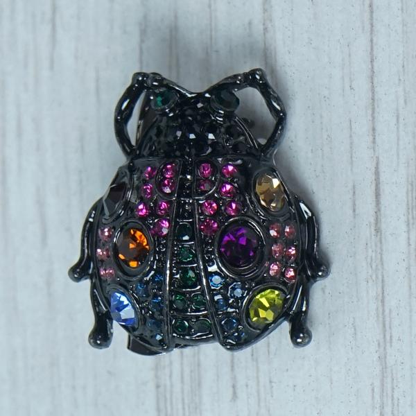 Small Black Bug Brooch