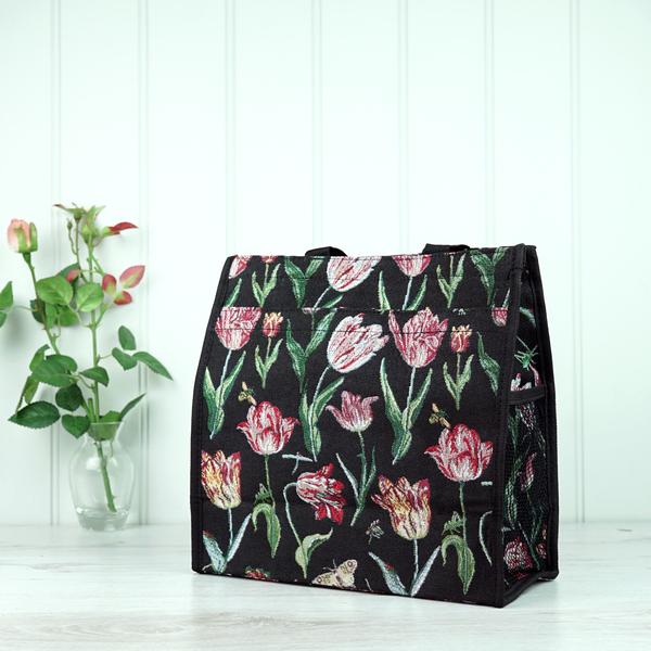 Tapestry Bag - Black Tulip