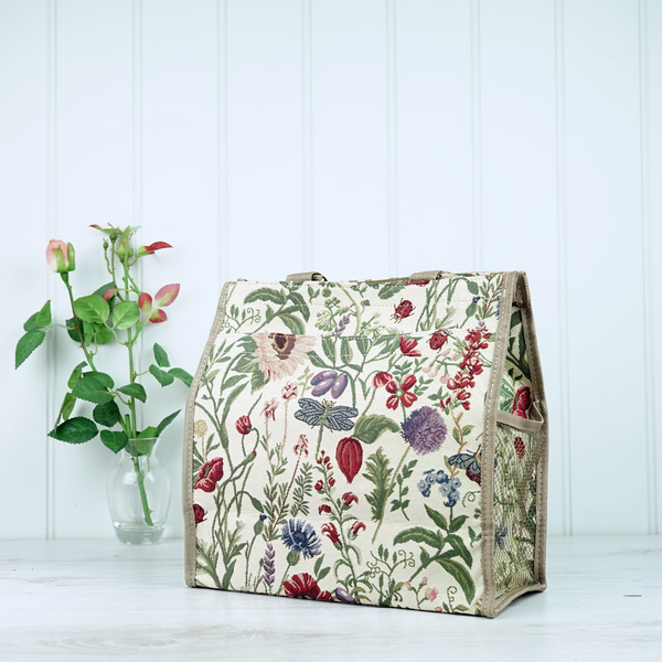 Tapestry Bag - Cream Floral