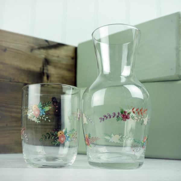 Water Carafe - floral design
