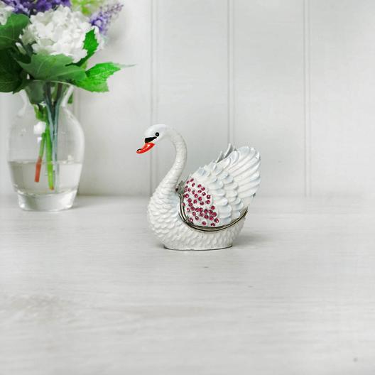 White Swan Trinket Box