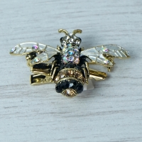 Black and White Bug brooch