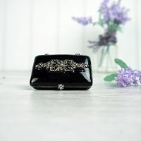 Black Art Nouveau Style Trinket Box