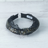 Black Beaded Hairband