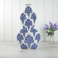 Blue & White Serpentine Vase