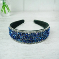 Blue Beaded Hairband