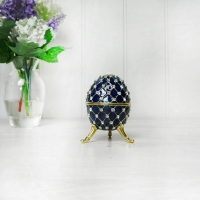 Blue Egg Trinket Box