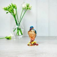 Standing Kingfisher Trinket Box