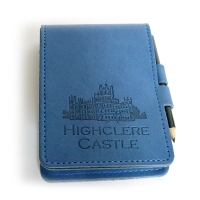Blue Leather Notepad with Pencil