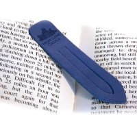 Blue Leather Page Marker