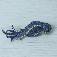 Blue Phoenix Brooch