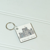 Castle Outline Key Ring