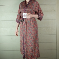 Coral Silk Dressing Gown