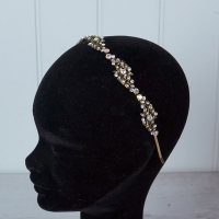 Dark Gold Diamante Tiara/hairband