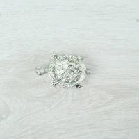 Diamante Tortoise Brooch