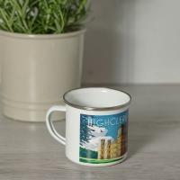 Art Deco Style Enamel Mug