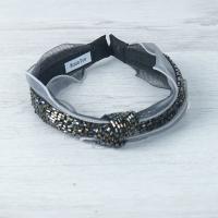 Grey Beaded Hairband