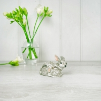 Grey Rabbit with Baby Trinket Box