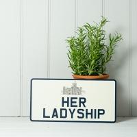 Vintage Style Her Ladyship Number Plate