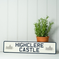 Vintage Style Long Number Plate
