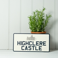Vintage Style Square Number Plate