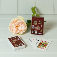 Highclere Playing Cards - Burgundy