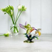 Hummingbird with Flower Trinket Box