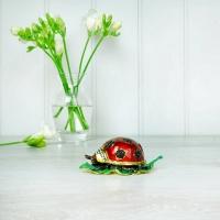 Ladybird on Leaf Trinket Box